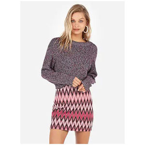 EXPRESS Pink High Waisted Stretchy Mini Skirt